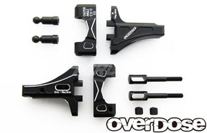 Overdose (#OD2426) Adjustable Aluminum Front Suspension Arm Type-2 - Black