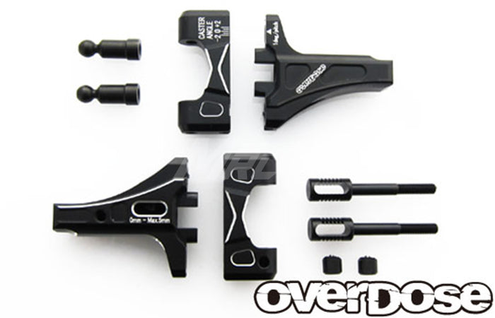 Overdose Adj. Alum. Front Suspension Arm Type-2 - Black