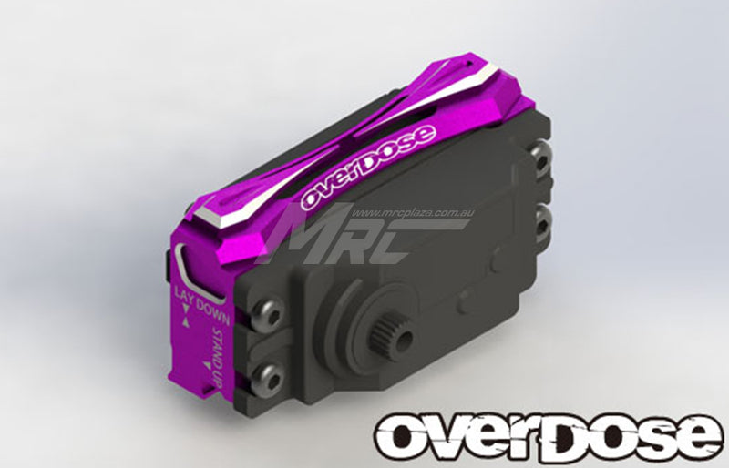 Overdose Alum. 2-Way Layout Servo Mount - Purple