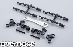Overdose Adjustable Alum. Front Upper Arm Set - Black