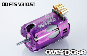 Overdose (#OD2605) OD Factory Tuned Spec. V3 Brushless 10.5T Motor - Purple