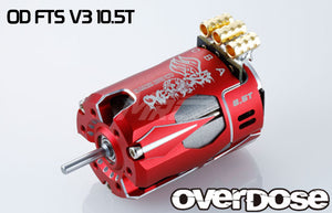 Overdose (#OD2606) OD Factory Tuned Spec. V3 Brushless 10.5T Motor - Red