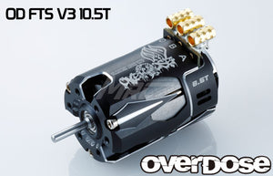 Overdose (#OD2607) OD Factory Tuned Spec. V3 Brushless 10.5T Motor - Black