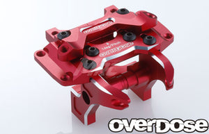 Overdose (#OD2664) Aluminum Front Bulkhead Type-2 - Red