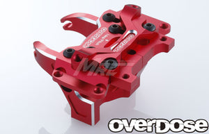 Overdose Alum. Front Bulkhead Type-2 - Red