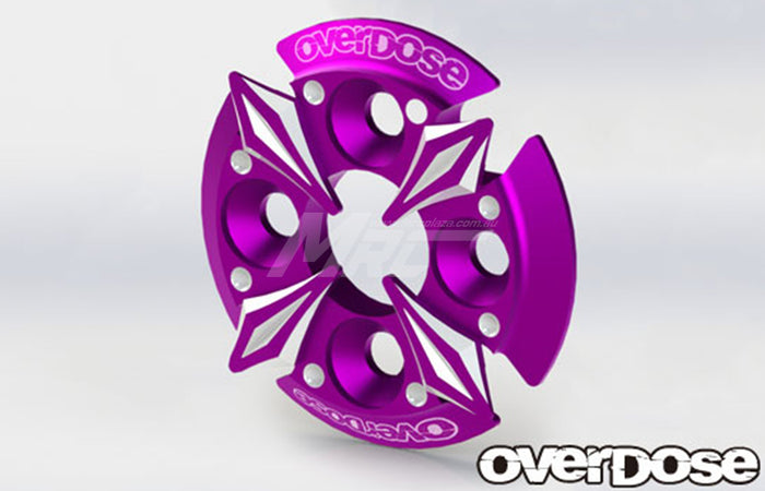 Overdose Spur Gear Support Plate Type-5 - Purple
