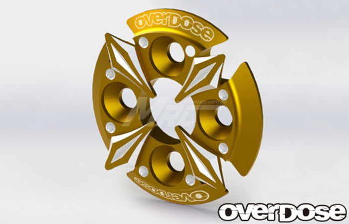 Overdose Spur Gear Support Plate Type-5 - Gold