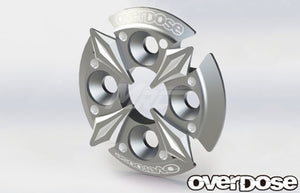Overdose (#OD2671) Spur Gear Support Plate Type-5 - Silver