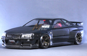 PANDORA (#PAB-131) Nissan SKYLINE R34 GT-R V-spec II Body Set Body Set for 1:10 RC Cars