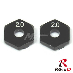 Rêve D (#RD-005S2) ASL Front Axle Wheel Spacer 2.0mm