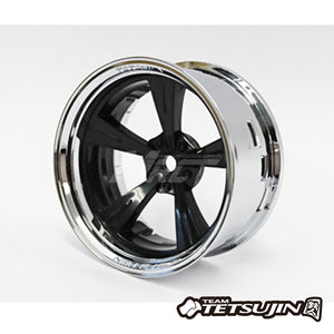 Tetsujin (#TT-7658) Super Rim Chrome X Mandarin Set - Black
