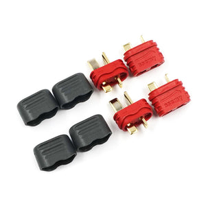 Yeah Racing (#WPT-0142) T-Plug Deans Male & Female Connectors w/ Insulating Caps Set