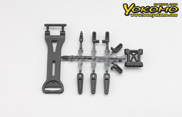 Yokomo Battery Mount / Servo Horn Set