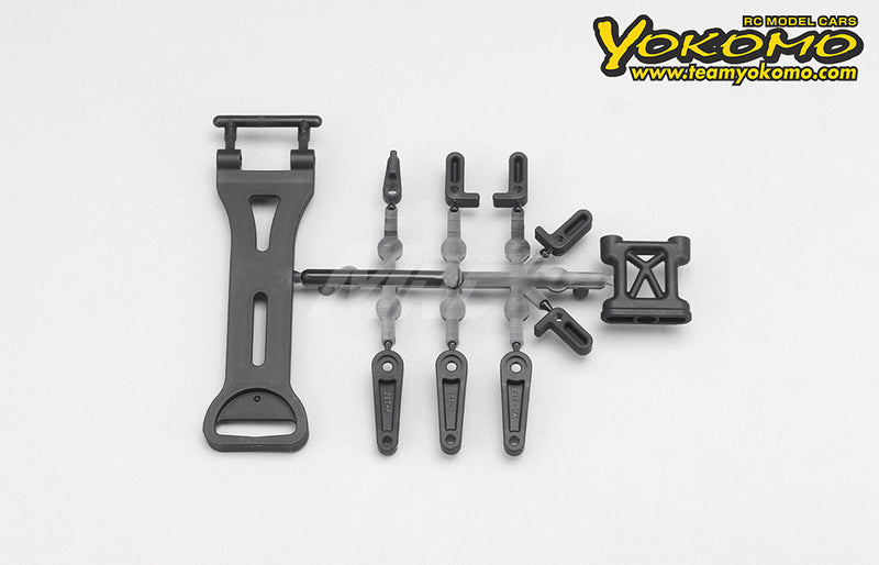 Yokomo (#Y2-118S) Battery Mount / Servo Horn Set