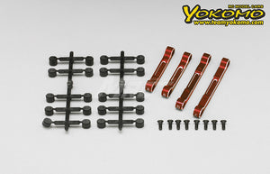 Yokomo (#Y2-301AR) Aluminum Adjustable Suspension Mount Set - Red