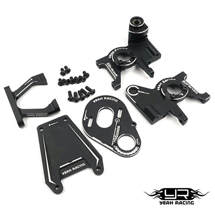 Yeah Racing Alum. Rear Motor Kit - Black