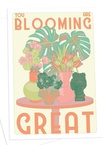 Greetings Card - 'You Are Blooming Great' by OMG Kitty