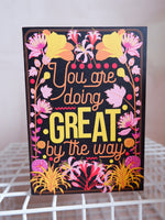 Load image into Gallery viewer, Greetings Card - 'You Are Doing Great' by OMG Kitty