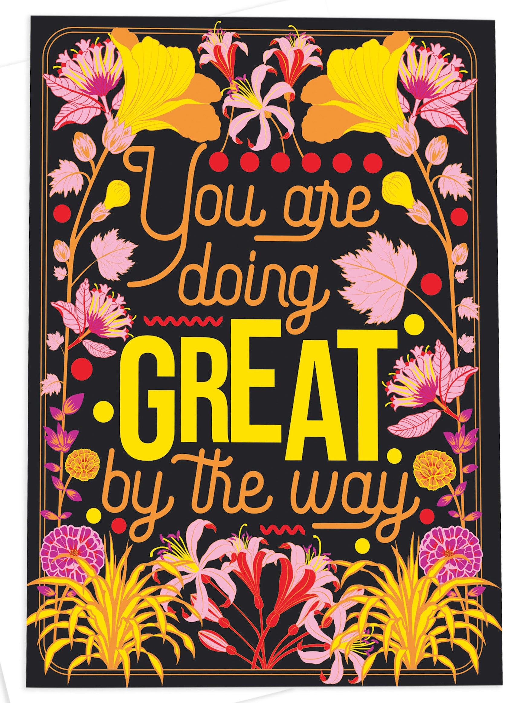 Greetings Card - 'You Are Doing Great' by OMG Kitty