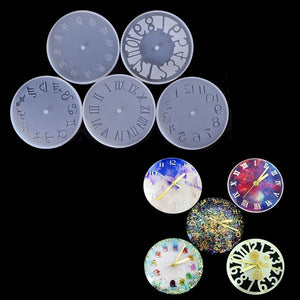 Epoxy Clear Clock Silicone Resin Liquid Mold Pendant Casting Beads Crystal Molds DIY Jewelry Making Tool Hand Craft