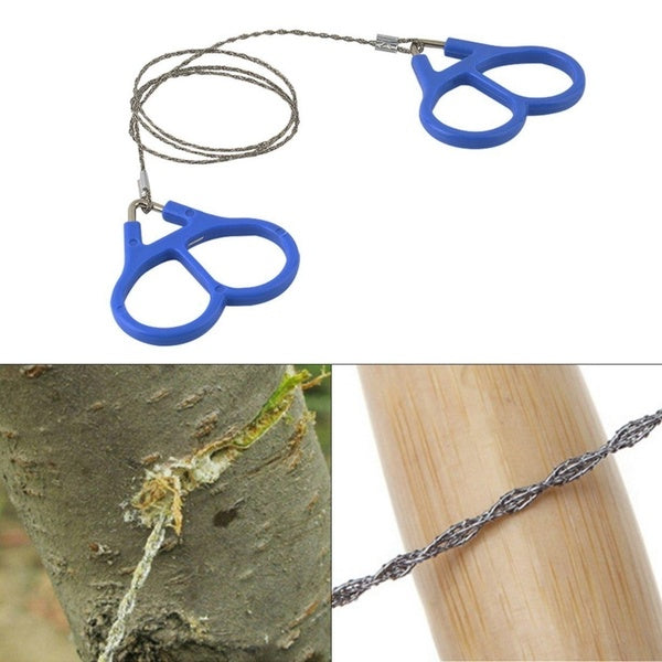 New Hiking Camping Stainless Steel Wire Saw Emergency Travel Survival Gear Wire Saw Rope Chain Saw