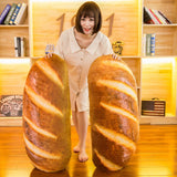 80CM/60CM/40CM 3D Funny Simulation Bread Shape Pillow Throw Pillow  Soft Lumbar Back Cushion Plush Stuffed Toy bolster
