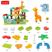 Load image into Gallery viewer, Tumama 91-143PCS Marble Race Run Maze Ball Track Building Blocks Funnel Slide Jungle Adventure Big Size Building Brick Legoingly