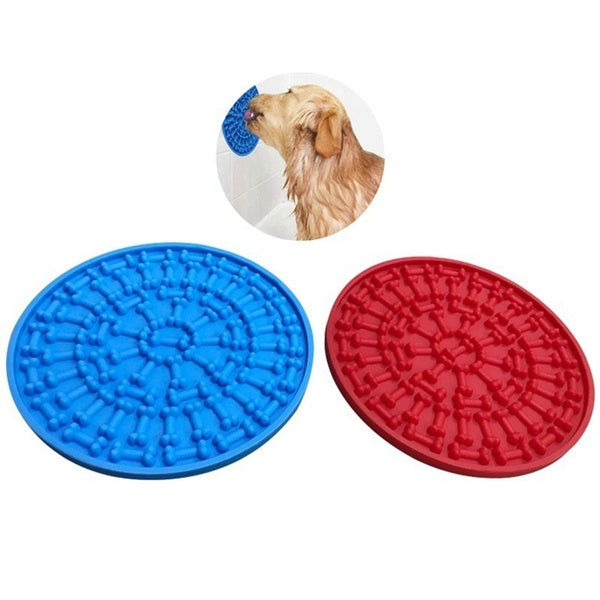 Dog Lick Silicone Pad, Puppy Bath Peanut Butter Pad With Suction Cup, Dog Funny Shower Toy