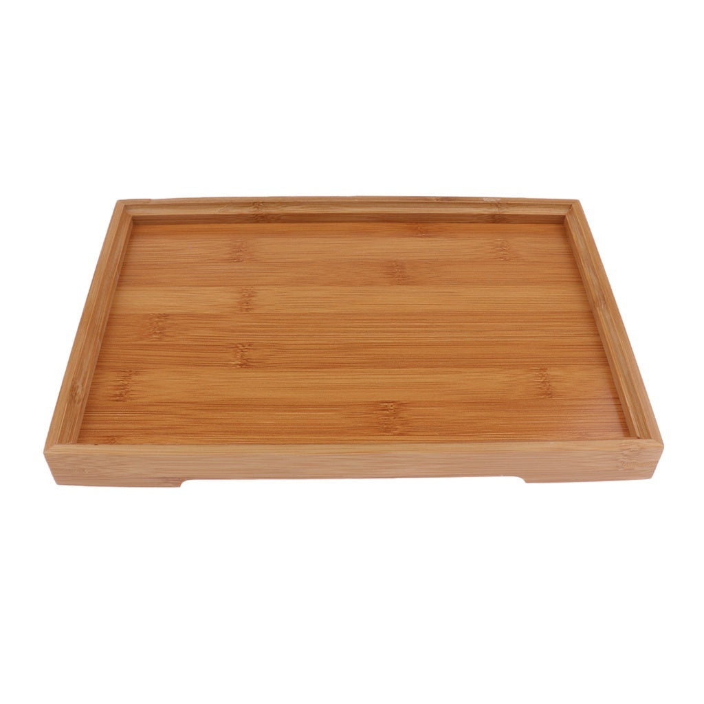 Flameer Wood Rectangle Serving Tray Platter Home Decoration Dishes Plate 6 Sizes