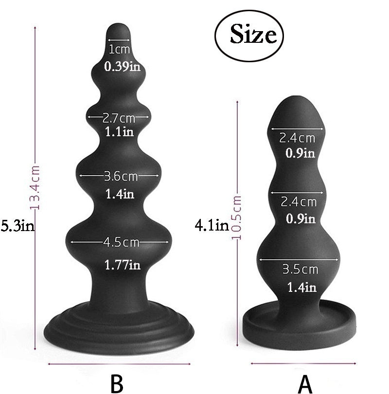 Silicone Anal Plug Strong Sucker Anal Bead Massage Anus Dilator Sex Toy