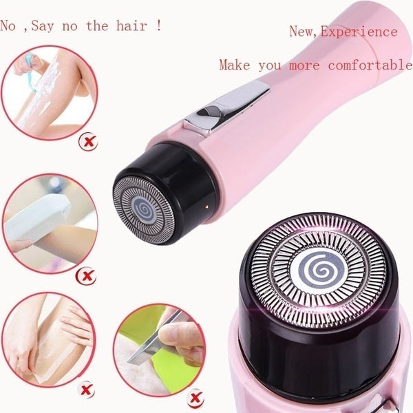 4.4 Inches Mini Women Electric Body Hair Remover Shaver AA Battery Powered Facial Hair Removal Painless Portable Epilators Trimmer Beauty Tools