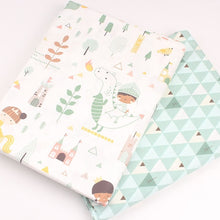 Load image into Gallery viewer, New 2pic/lot 40x50cm Cotton fabric for Sewing baby pillow dress Bedding tablecloth Patchwork tissue tecidos DIY Doll cloth fabrics p12