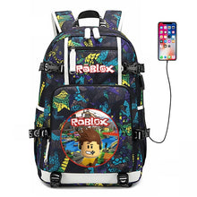 Load image into Gallery viewer, ROBLOX RED NOSE DAY game social network surrounding backpack student bag computer bag leisure tide