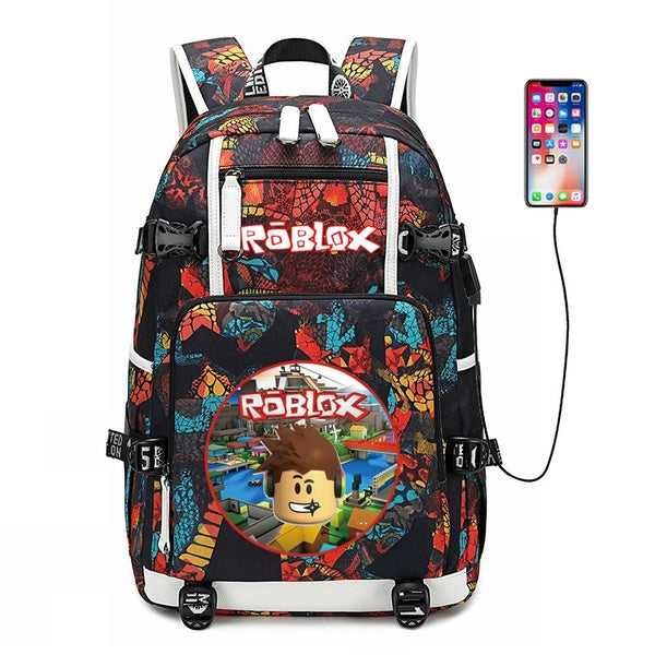 ROBLOX RED NOSE DAY game social network surrounding backpack student bag computer bag leisure tide