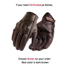 Load image into Gallery viewer, Gloves Motorcycle Leather Brown For Men Summer Motorbike Glove Touch Screen Racing Cycling Sports Gear Premium Quality