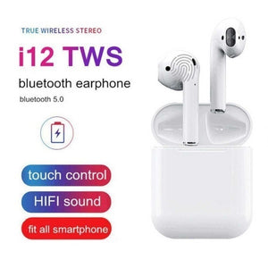 TWS i12 Wireless Bluetooth 5.0 Earphone Touch Control With Charging Box