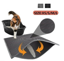 Load image into Gallery viewer, Double-Layer EVA Waterproof Pets Cats Litter Mat Pad Portable Wearable Supplies Trapper Mats Smooth Surface Breathable Holes