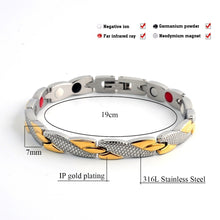 Load image into Gallery viewer, Fashion Twisted Healthy Magnetic Bracelet for Women Power Therapy Magnets Bracelets Bangles Men