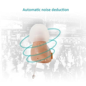 New 1Kit / 2Kits Mini Size Inner Ear Invisible Hearing Aid Adjustable Wireless Hearing Aids Ear Best Sound Amplifier With Battery