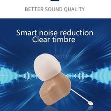 Load image into Gallery viewer, New 1Kit / 2Kits Mini Size Inner Ear Invisible Hearing Aid Adjustable Wireless Hearing Aids Ear Best Sound Amplifier With Battery
