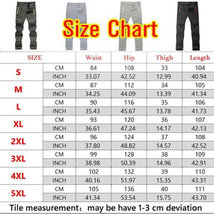 Men's Winter Outdoor Thick Waterproof Hiking Trousers Camping Climbing Fishing Trekking Softshell Long Pants Plus Size S-5XL
