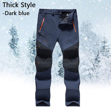 Load image into Gallery viewer, Men's Winter Outdoor Thick Waterproof Hiking Trousers Camping Climbing Fishing Trekking Softshell Long Pants Plus Size S-5XL
