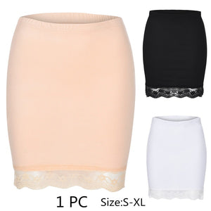 Women Leggings Pants Casual Lace Solid Stretchy Underwear Skirts Seamless Safety Skirt
