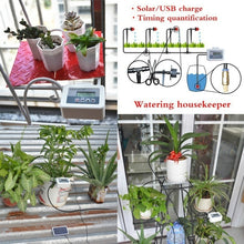 Load image into Gallery viewer, Solar Energe Plant Self-Watering Equipment +10M Tube Drip Kits Automatic Watering Irrigation System
