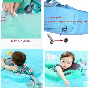 3rd Generation Baby Solid Swimming Float No Need Inflatable Swim Training Aid for Bathtub Pools  with Sunshade