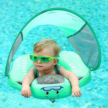 Load image into Gallery viewer, 3rd Generation Baby Solid Swimming Float No Need Inflatable Swim Training Aid for Bathtub Pools  with Sunshade