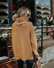 Load image into Gallery viewer, Women Fashion Soild Color Long Sleeve Turtleneck Neck Sweaters Women Pullovers Jumper Plus Size
