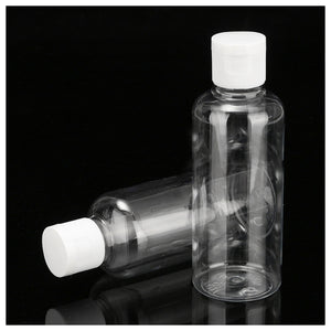 2pcs 100ml Clear Empty Spray Bottle Travel Plastic Perfume Atomizer Pump Bottles Travel Shampoo Lotion Cosmetic Container Flip Bottles