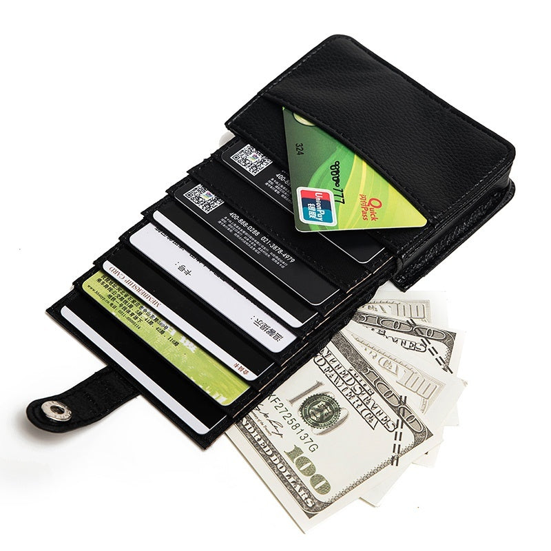 Top Wallet RFID Blocking Wallet Card Holders for Playing Cards Card Holder Wallet for Men Unisex 16 Cards Slots PU Leather Purse Wallet Pocket Case ID Credit Card Holder