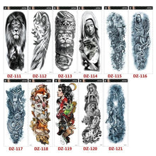 Load image into Gallery viewer, 1Pcs Men Arm Tattoo Temporary Tattoos Sticker Fake Tatoo Body Art Waterproof-3D